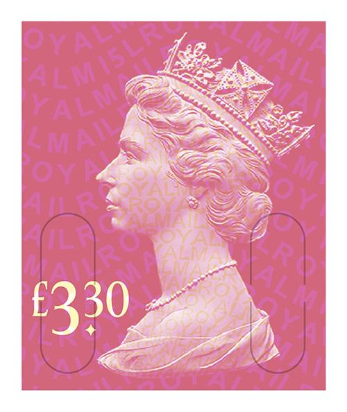£3.30 Rose Pink Definitive